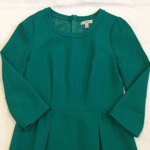 Women's green 3/4 sleeve Wool J.Crew dress, 2